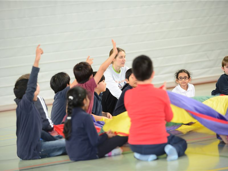 Children in the Sports Hall